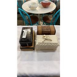 4 JEWELRY BOXES OF COSTUME JEWELRY