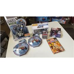 Lot of new star wars action figures and toys