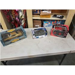 2 DIECAST CARS AND NEWBRIGHT RC MONSTER TRUCK
