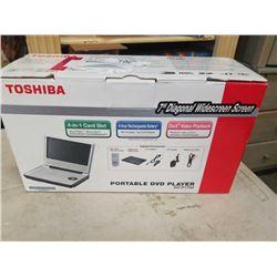"TOSHIBA 7"" DVD PLAYER IN BOX"