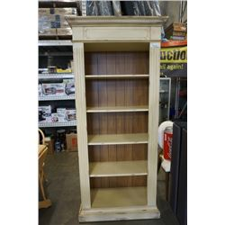 WHITE BOOKSHELF - APPROX 82 INCHES TALL