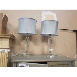 PAIR OF MODERN TABLE LAMPS W/ SHADES