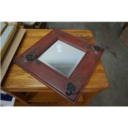 BEVELLED MIRROR AND COATHANGER MIRROR