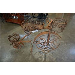 "27"" metal tricycle garden decor"
