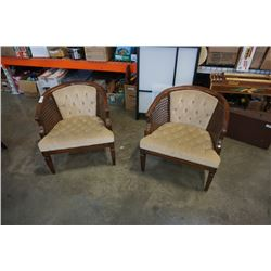 2 VINTAGE BUCKET CHAIRS
