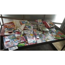 LARGE LOT OF NEW ACTIVITY BOOKS, GAMES, PUZZLES AND MORE