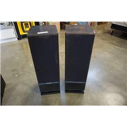 Pair of mor daunt short floor speakers