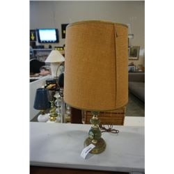 GREEN STONE TABLE LAMP