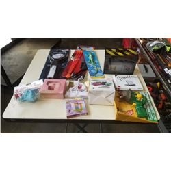 LOT OF NEW TOYS, WII ACCESSORY, SOCK BEAR AND MORE