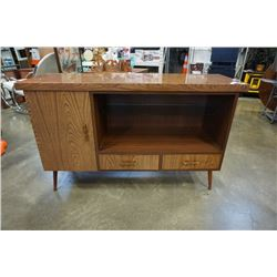 VINTAGE CABINET WITH GLASS SHELF