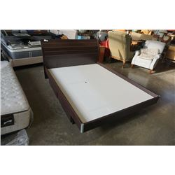 MODERN QUEENSIZE PLATFORM BED FRAME WITH 4 DRAWERS UNDERBED STORAGE