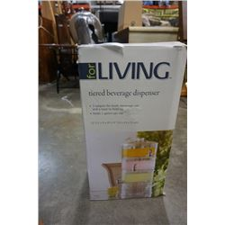 FOR LIVING 3 TIERED DRINK DISPENSER IN BOX