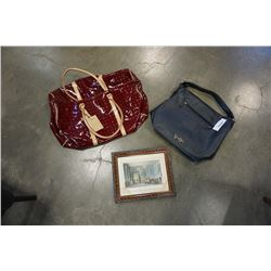 2 PURSES AND SMALL PRINT