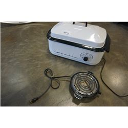 NESCO 18 QT ROASTER OVEN AND ELECTRIC ELEMENT