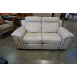 CINDY CRAWFORD HOME LEATHER ELECTRIC RECLINING LOVESEAT