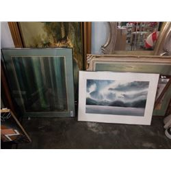 2 LARGE SIGNED WATERCOLORS
