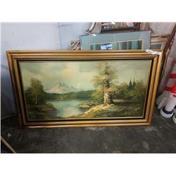 Large framed signed oil on canvas S. Glaze