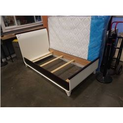 TULIP PICCOLO TWIN BED 39 INCH FRENCH WHITE AND JAVA BED FRAME