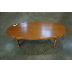 Mid century modern oval coffee table