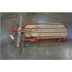 Vintage metal and wood sears sled