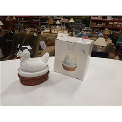 2 NEW LIDDED CHICKEN BOWLS WITH LIDS