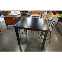 MODERN DINING TABLE AND 3 BAR STOOLS