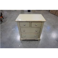 GREEN PAINTED 4 DRAWER NIGHTSTAND