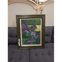 """Genevieve Boyes oil on canvas """"Clematis"""""""