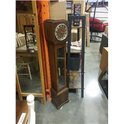GORGEOUS ANTIQUE ADMIRAL GRANDMOTHER CLOCK WITH KEY AND WEIGHT