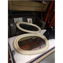 2 LARGE OVAL MIRRORS