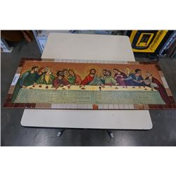 """39"""" Last supper wall hanging"""