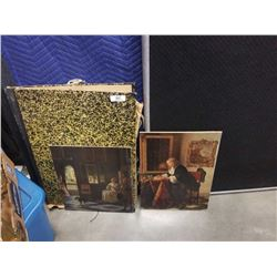 2 art folios w/ lithographs and more