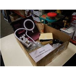 Box of new, lcd under cabinet mount, ring fill light apple triple charger and more