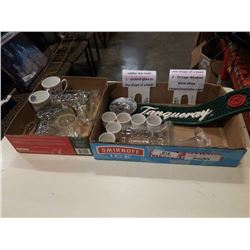 Box of various cups and mugs