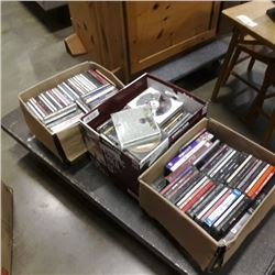 3 boxes of CDs