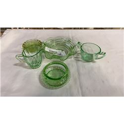 6 pieces of mint glass