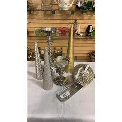 CHRISTMAS CANDLES, CANDLE STANDS AND ORNAMENT