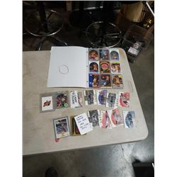 LOT OF BASKETBALL CARDS, BINDER OF LAKERS