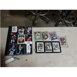 HARD CASED FOOTBALL CARDS AND BINDER OF FOOTBALL CARDS