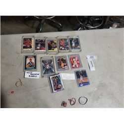 LOTO OF HARD CASED BASKETBALL CARDS - ROOKIES AND OTHERS