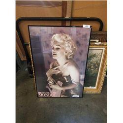 Framed marilyn monroe advert - cracked glass