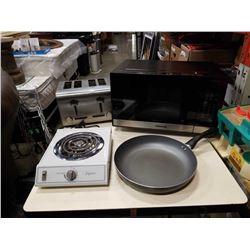 Panasonic microwave, stainless toaster 1000 watt electric element an
