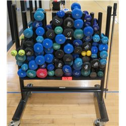 Dumbells with Rolling Rack