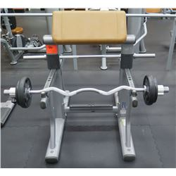 Life Fitness SAC-0102 Arm Curl Bench w/ Barbell