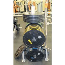 Misc. Barbell Weights with Rack