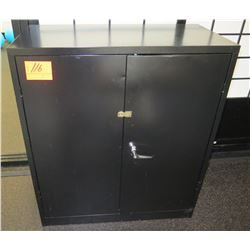 Metal Cabinet with Misc. Items