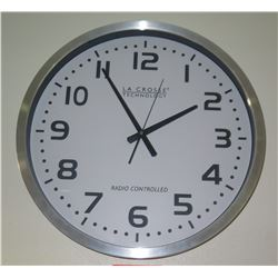 Large Modern La Crosse Clock - Radio Controlled