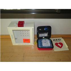 Philips Heartstart Defibrillator w/ Wall-Mount Cabinet