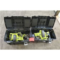 2 Toolboxes with Ryobi Power Tools
