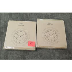2 New BEW Wall-Mount Clocks